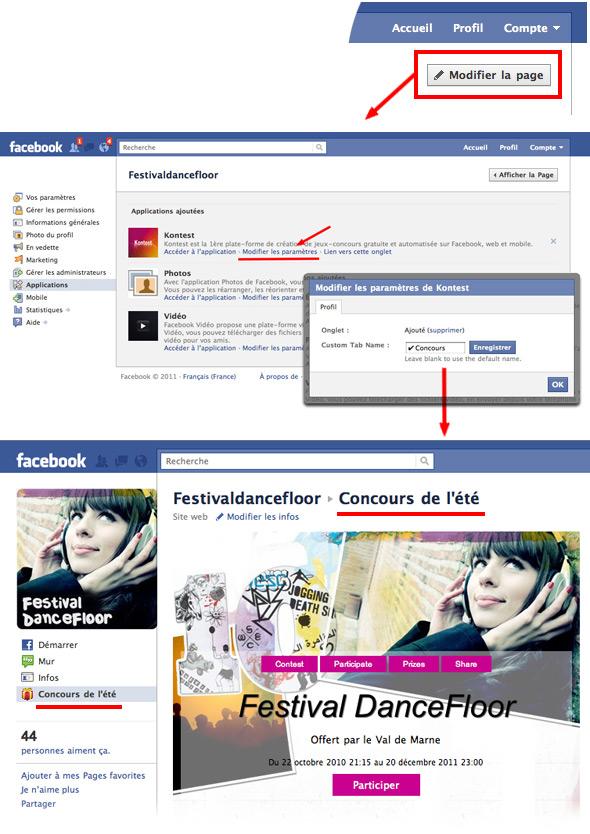 Comment modifier le nom d un onglet d une page fan facebook - Comment trouver le nom d une plante ...