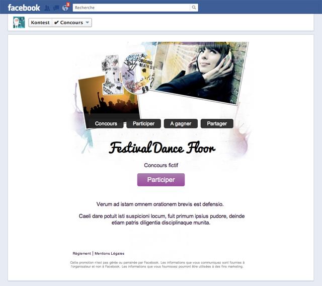 Timeline Concours Facebook