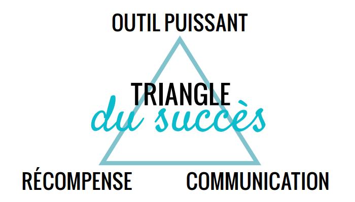 Triangle succès jeu concours