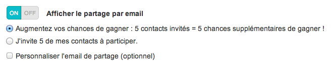 partage email