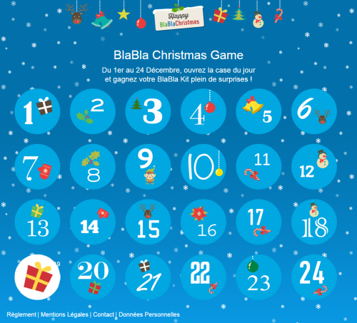 BlaBla Christmas Game - calendrier quiz