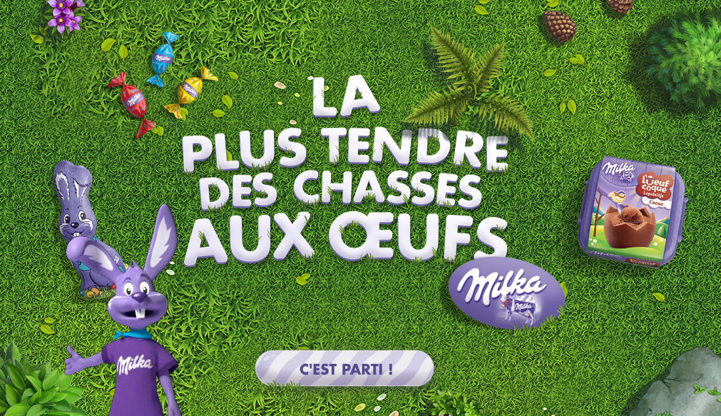 milka tendre chasse aux oeufs