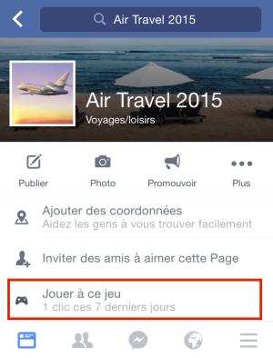 CTA Facebook mobile