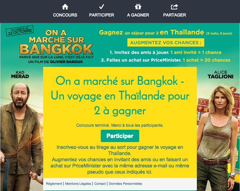 jeu On a marche sur Bangkok