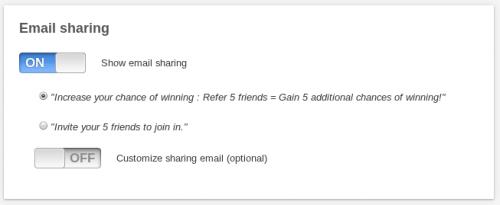 email sharing kontest