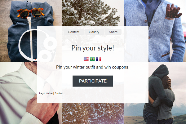 example pinterest contest